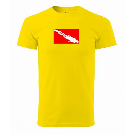 Tričko Potápěč v obdélníku (UNISEX)