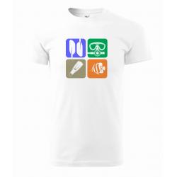 Tričko Čtverce symbolů (UNISEX)