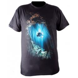 Ursuit - bavlněné tričko černé s potiskem