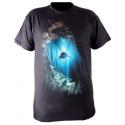 Ursuit - bavlněné tričko černé s potiskem unisex
